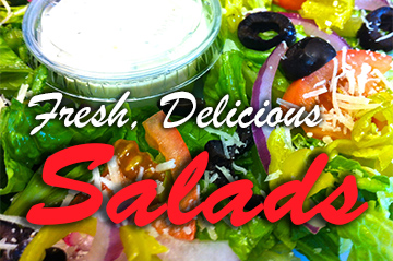Delicious Salads and Pizza